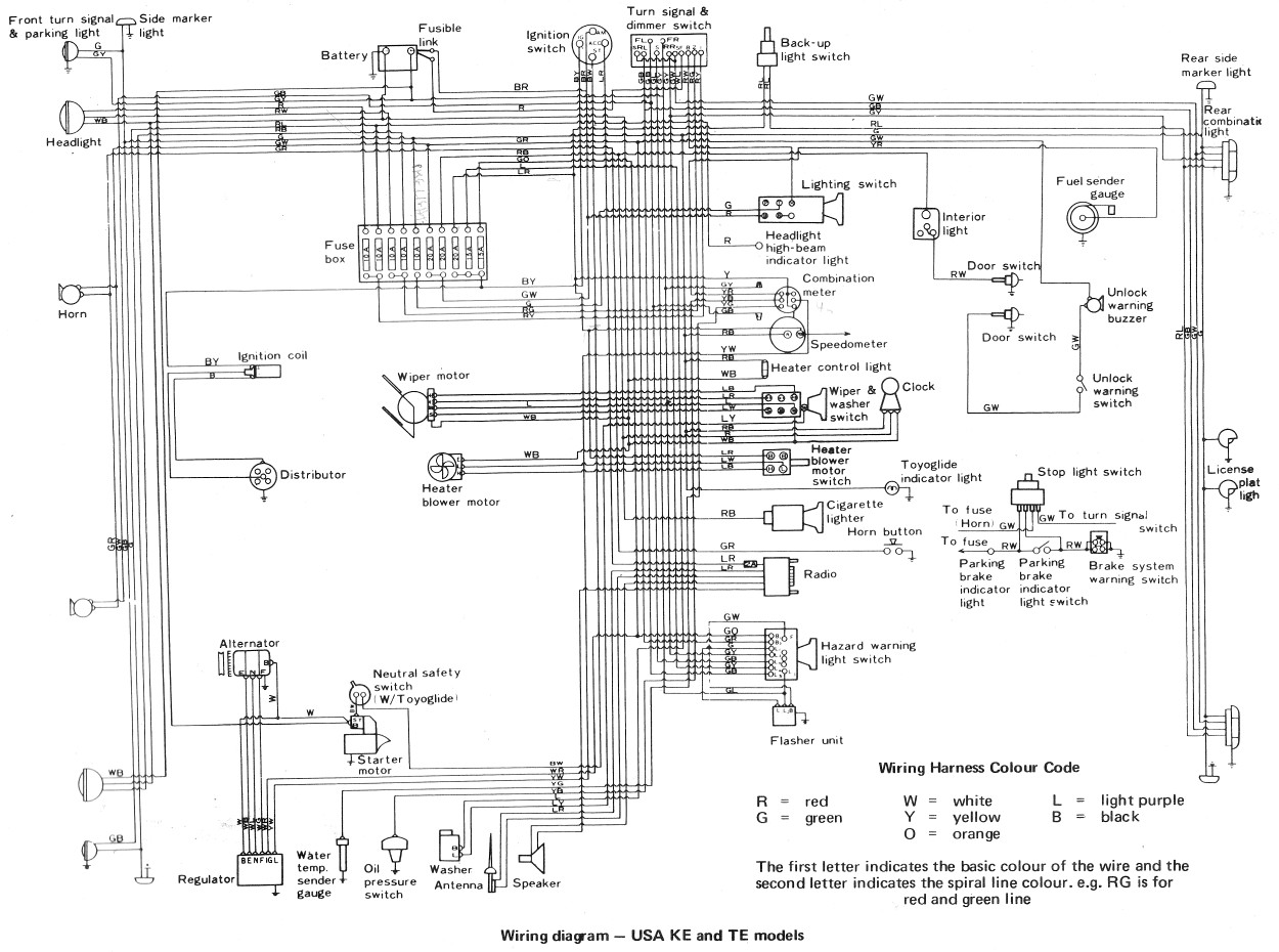 Toyota Wiring Diagrams from oldcorollas.com